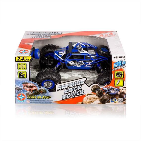Brinquedo Carrinho De Controle Remoto Anfibius Azul