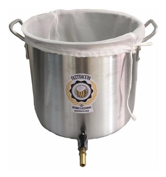 Caldeirão Cervejeira Alumínio 27l -34cm + Grain Bag - Biab