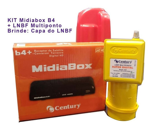 Kit Receptor Digital Midiabox B4 C/ Lnbf Multiponto + Capa