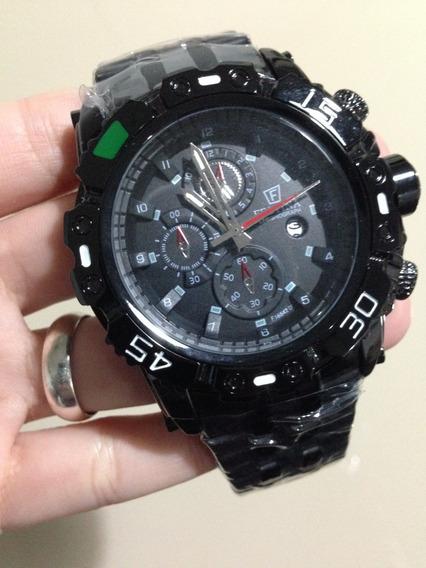 Relógio Masculino Original Luxo Preto Barato Pronta Entreg