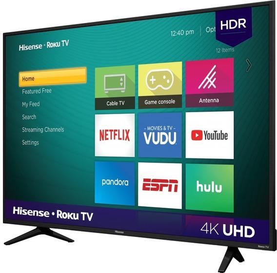 Pantalla Smart Tv 55 Pulgadas Hisense 4k Roku Mod 55r6e