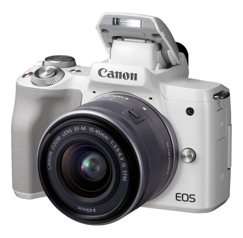 Canon EOS M50 15-45mm IS STM Kit sin espejo color blanco