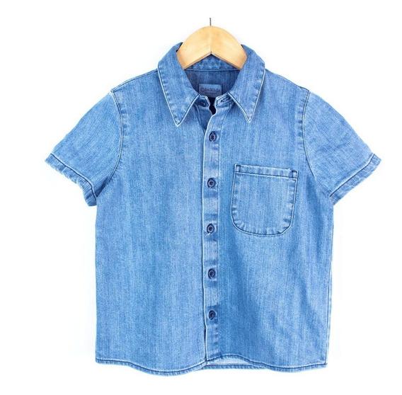Camisa Innermotion De Mezclilla Para Niño Estilo 4127