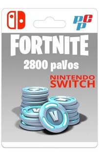 Fortnite 2800 Pavos Digital - Nintendo Switch - Prepagochile