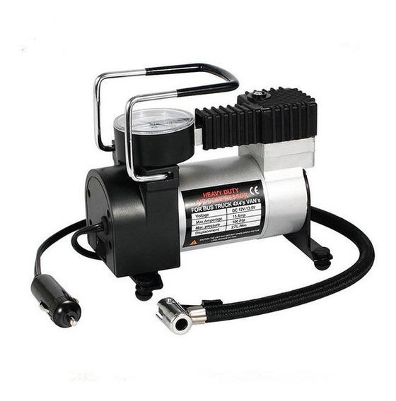 Inflador Electrico 12 Volts 140psi 35 Lts/min. C/adaptadores