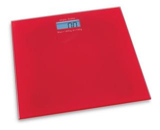 Balança De Banheiro Hauskraft Vermelha 180kg