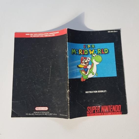 Super Mario World Manual Snes- Frete Grátis