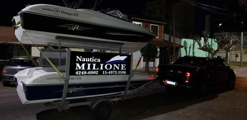Imagen 1 de 15 de Lancha Open 3v Tango 470 Nautica Milione Permuta Tarjetas 13