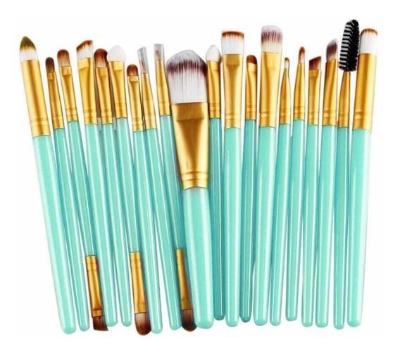 Set 20 Brochas Maquillaje Artistico