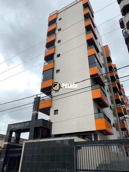 Apartamento Com 1 Dorm, Guilhermina, Praia Grande - Cod: 433 - V433