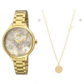 Relógio Allora Feminino Al2036fig/k4b + Colar E Brinco