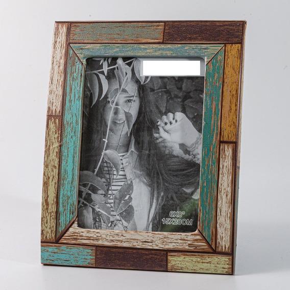 Porta Retrato Vintage 13x18cm - Simil Cuero - 2 Diseños