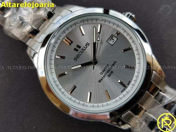 Relógio Masculino Seculus 44931515 Swiss Made Calendário