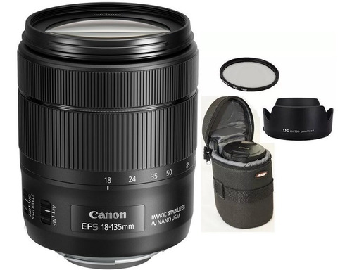 Canon Ef-s 18-135mm Is Nano Usm + Bolsa+parasol+uv 67mm Nota Fiscal
