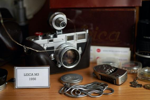 Leica M3 C Summicron 5cm Acessorios Revisada 100% Funcionand