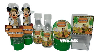Kit Festa Lembrancinha Personalizada Mickey Safari 3d 80un