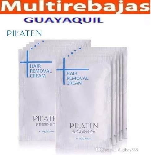 Crema Depilatoria Pilaten De 10g 10 Sachet Por $10