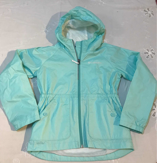 Campera Impermeable Nena/columbia-t. S (7-8años) Impecable!!