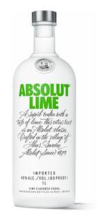 Vodka Absolut Lime Botella De Litro Envio Gratis Caba