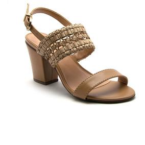 b1ea070a1 Sandália Via Uno Com Salto Dourado - Calçados, Roupas e Bolsas com o ...