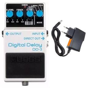 Pedal Boss Dd 3 Digital Delay Dd3 + Fonte Hayonik - Kadu Som