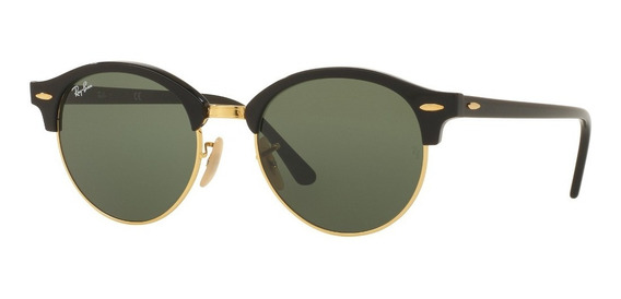 Lentes Ray-ban 0rb4246 Clubround Negro Verde