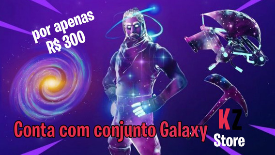 Comta Conjunto Galaxy Fortnite/skin Exclusiva Galaxy Note 9