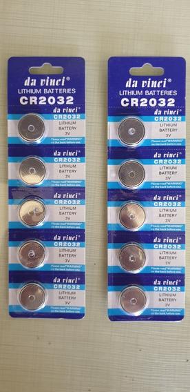 50 Bateria 2032 Pilhas Cr2032 Bateria Lithium 3v