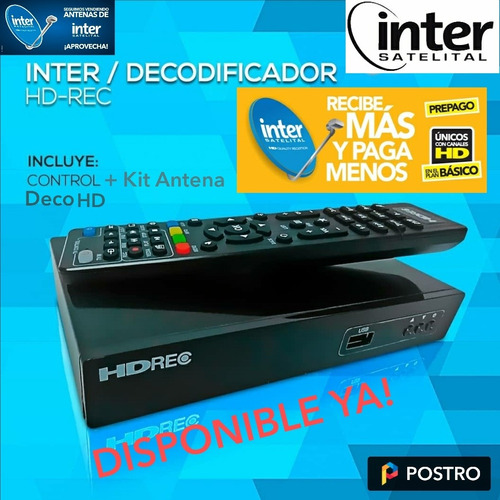 Kit Inter Satelital Deco Antena Instalación