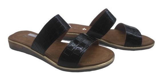Zueco Doble Tira Baja Goma Zapatos Mujer Moda Savage Al-138