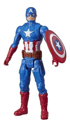 Imagem 1 de 3 de Boneco Avengers Titan Hero  Capitão America 30 Cm - Hasbro