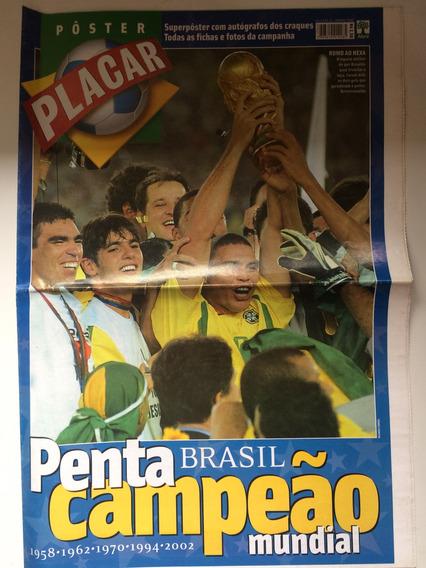 Revista Pôster Placar - Edição Da Conquista Do Penta