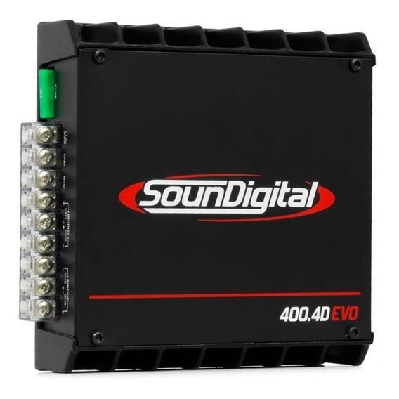 Módulo Amplificador Sondigital Sd400.4 Evo 400wrms 4 Canais