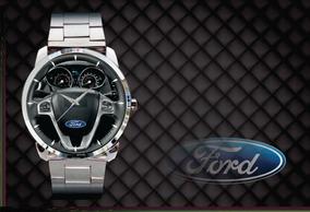 Relógio De Pulso Personalizado Painel Logo Ford New Fiesta