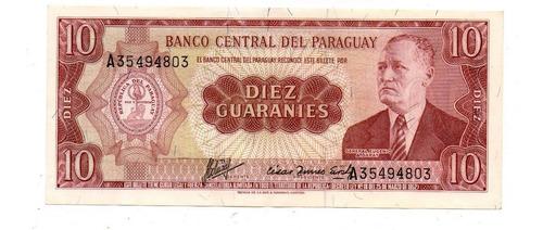 Paraguay Billete 10 Guaranies L. 1952 P#196b - Argentvs