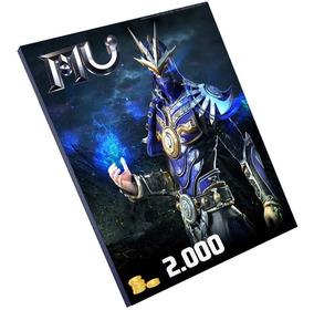 Cartão Mu Online 2000 Wcoin - E-prepag - Pronta Entrega!!