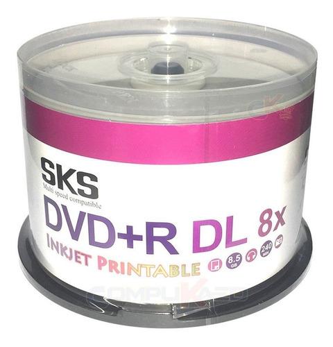 Cono X 50 Dvd+r Dl Doble Capa 8.5 Gb Sks 8x Printable Imprim