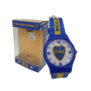 Reloj Plastico Con Caja Boca Juniors