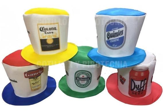 Galera Cerveza X 10 Gorros Galeron Tela Sombrero Carioca F