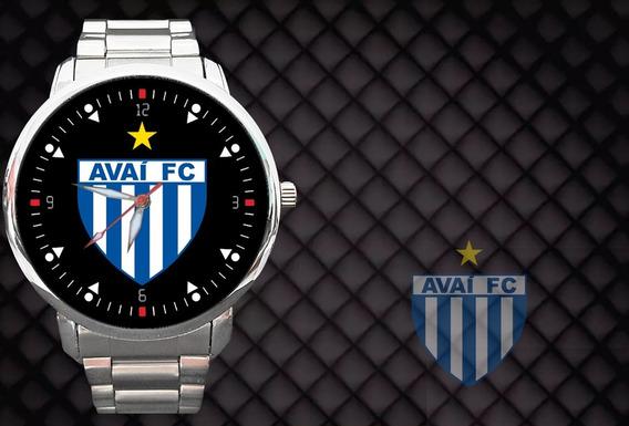 Kit 2 Relógios - Relógio Avaí Futebol Florianópolis Floripa Sul Bola Gol Sc Santa Catarina Leão Da Ilha