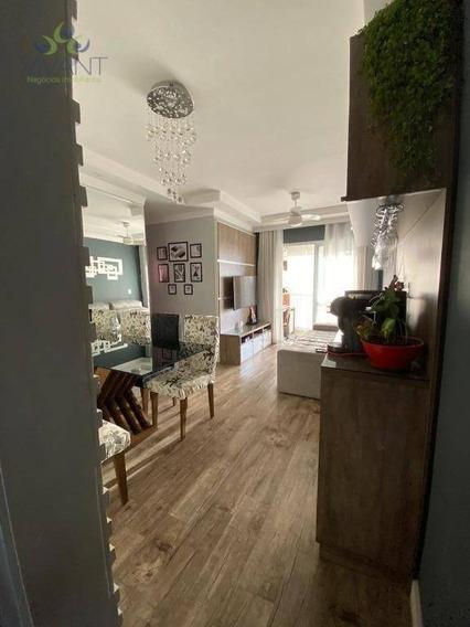 Apartamento Todo Planejado Com 3 Dormitórios À Venda Por R$ 400.000 - Parque Suzano - Suzano/sp - Ap0309