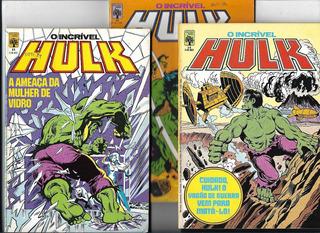 Lote C/ 03 Gibis: Incrível Hulk Nº 14-15 E 16 ( Abril-1984 )