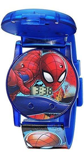 Marvel Reloj De Cuarzo Para Niño Con Correa De Plástico, Azu