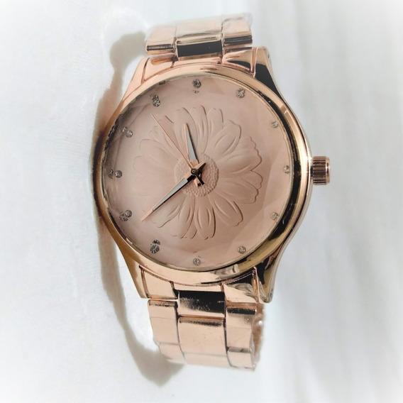 Relógio Feminino Bom Barato De Pulso Novo Original Rose