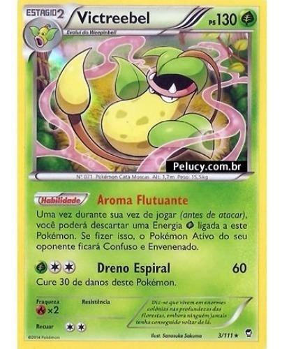 Victreebel Pokémon Planta Raro 3/111 Foil Xy Punhos Furiosos