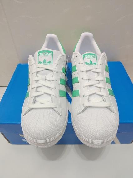 Tênis adidas Superstar Masculino Branco/verde-original