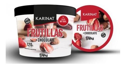Imagen 1 de 5 de Frutillas Bañadas En Chocolate Karinat X 120g