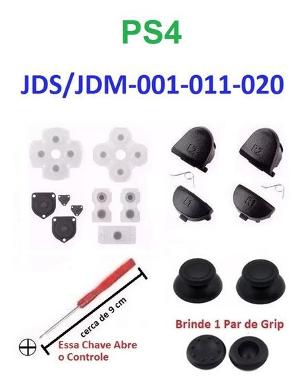 Ps4 Kit Reparo Controle Ps4 Brinde Par Grip + Fret R$ 14,80