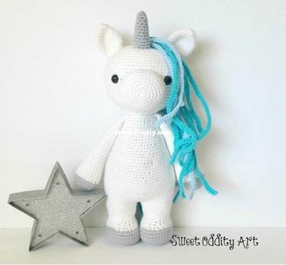 5 Patrones Unicornios Amigurumis Crochet-ingl.esp.x5