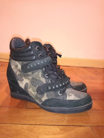 Zapatillas Militar De Tacón Oculto Marca Aldo